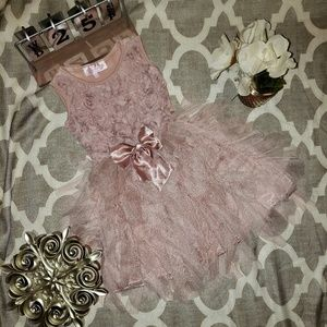 Popatu Gorgeous Dusty Pink Tulle Toddler Dress